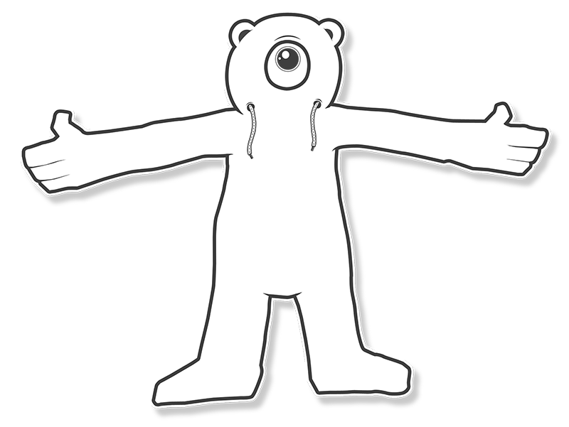 Free Hugs Teddy - Illustration